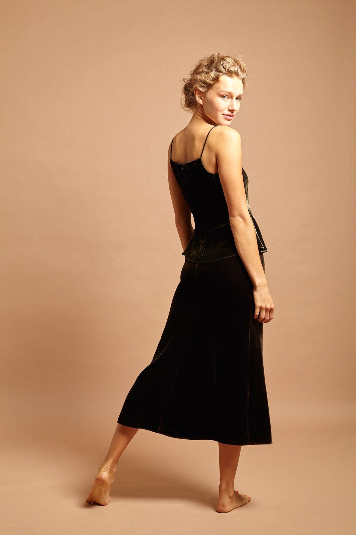 diseñadora-de-moda-Falda Africa Terciopelo