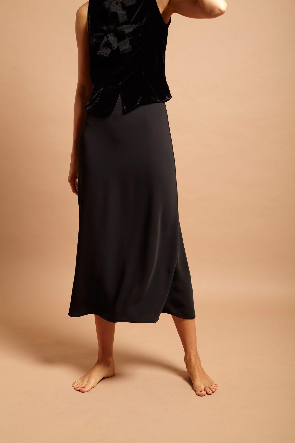 diseñadora-de-moda-Crepe Africa Skirt