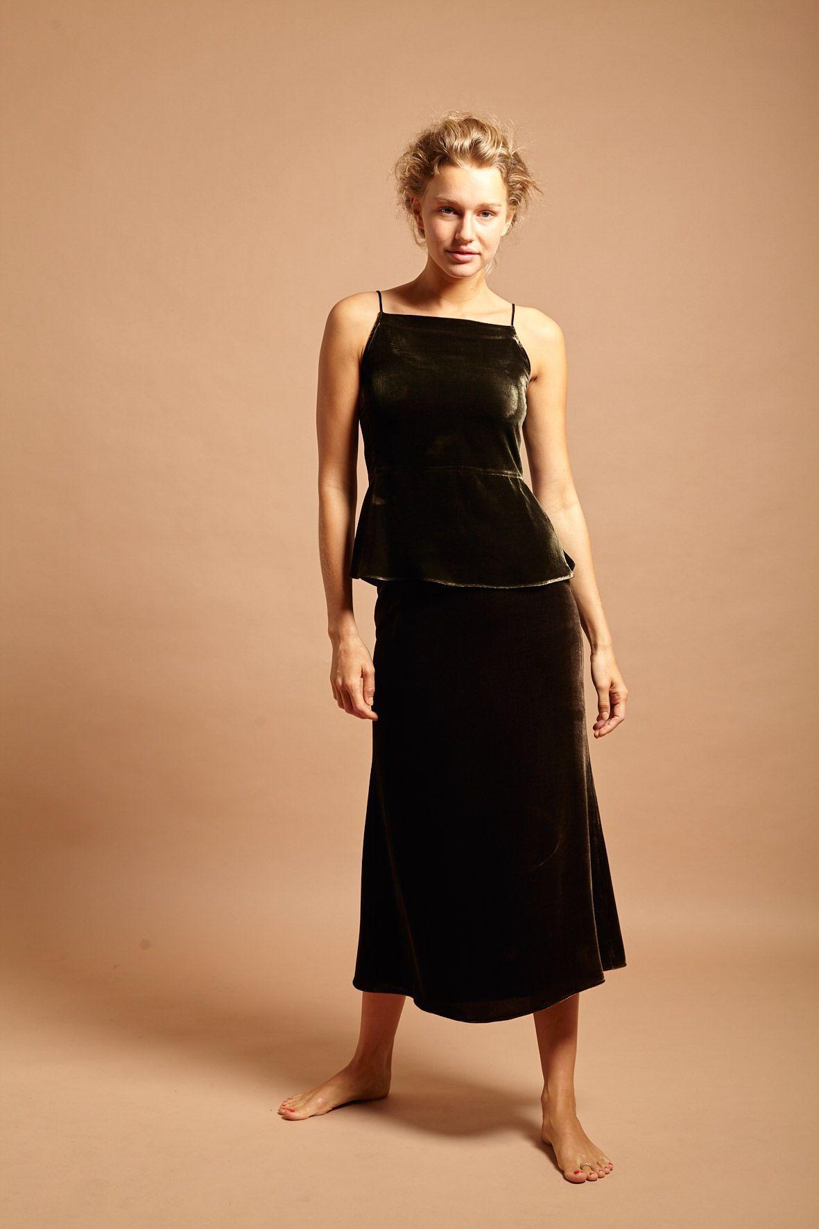 diseñadora-de-moda-Top Petra Terciopelo