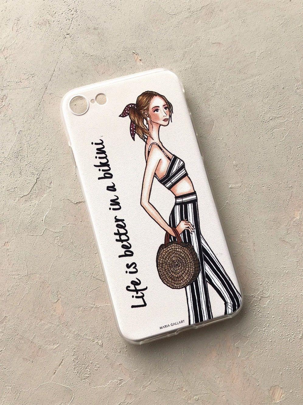 diseñadora-de-moda-Carcasa para iPhone Bikini