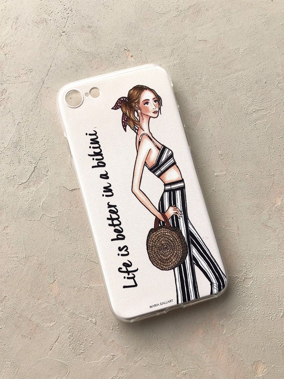 diseñadora-de-moda-iPhone Case Bikini