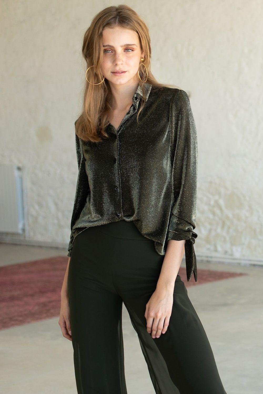 diseñadora-de-moda-Camisa Kim Oro