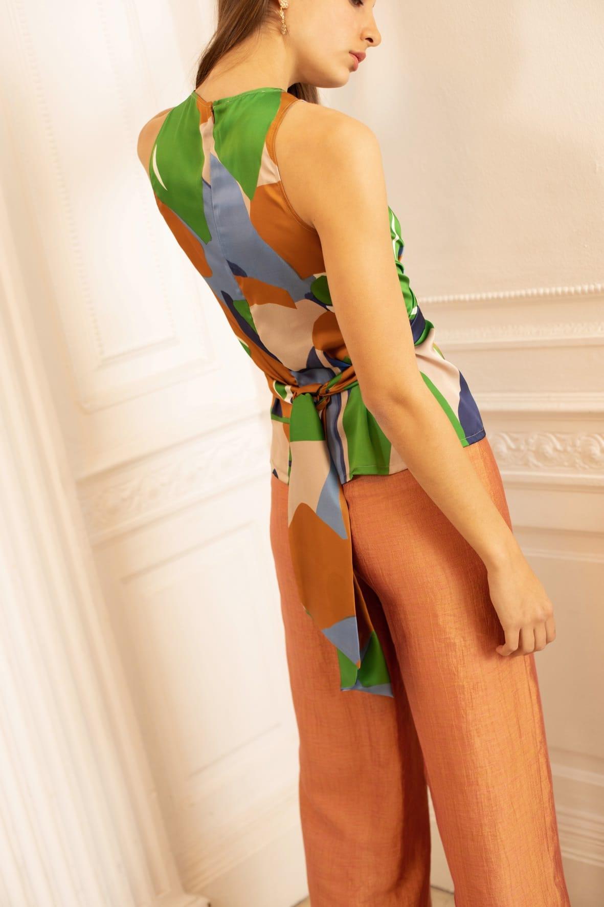 diseñadora-de-moda-Ava Print Top