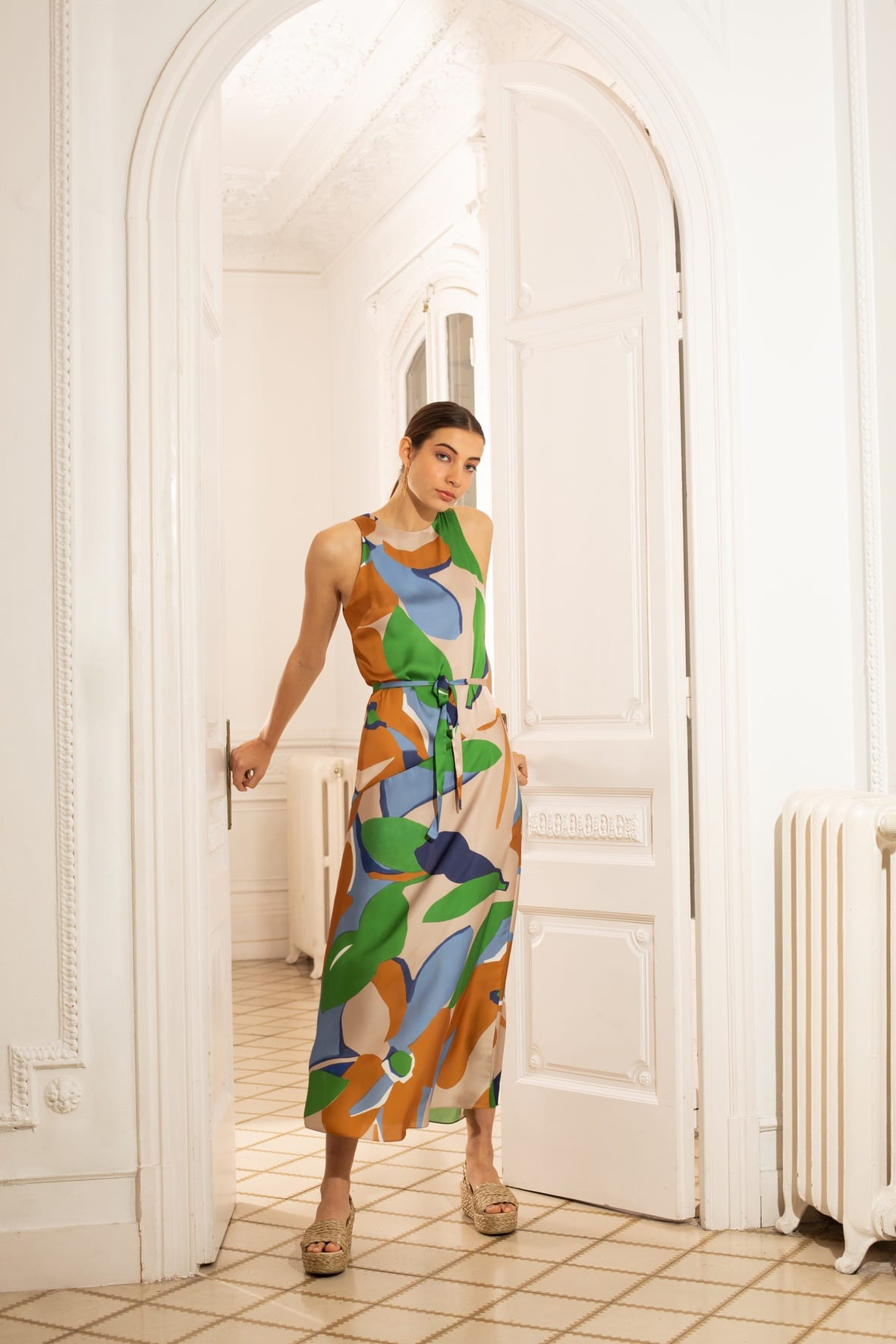 diseñadora-de-moda-Colette Print Dress