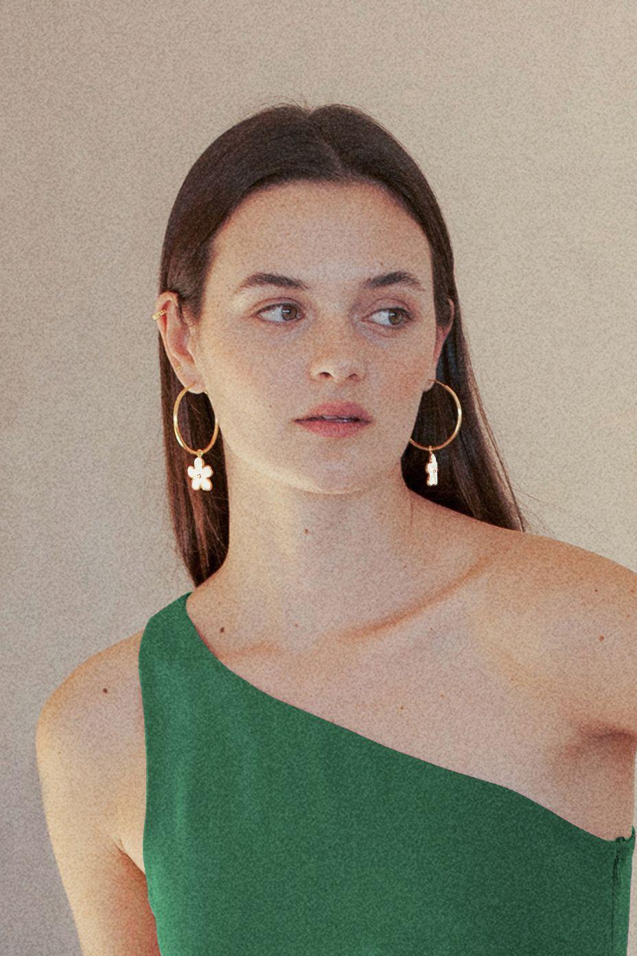 diseñadora-de-moda-Camelia Earrings