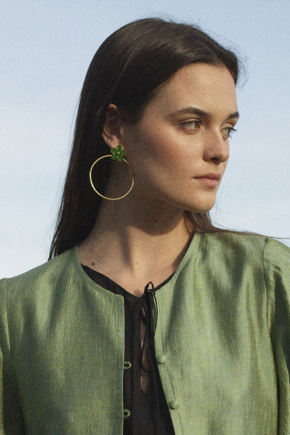 diseñadora-de-moda-Girasol Earrings