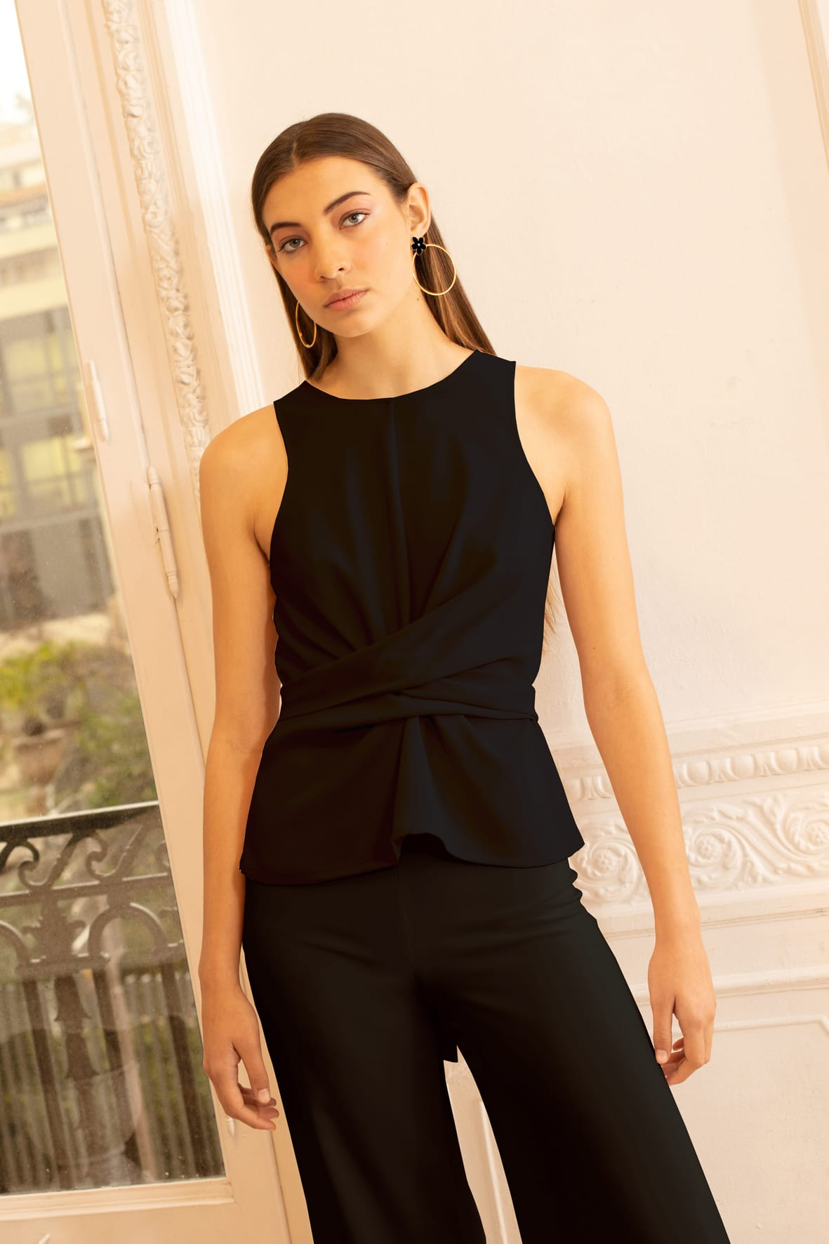 diseñadora-de-moda-Ava Crepe Top