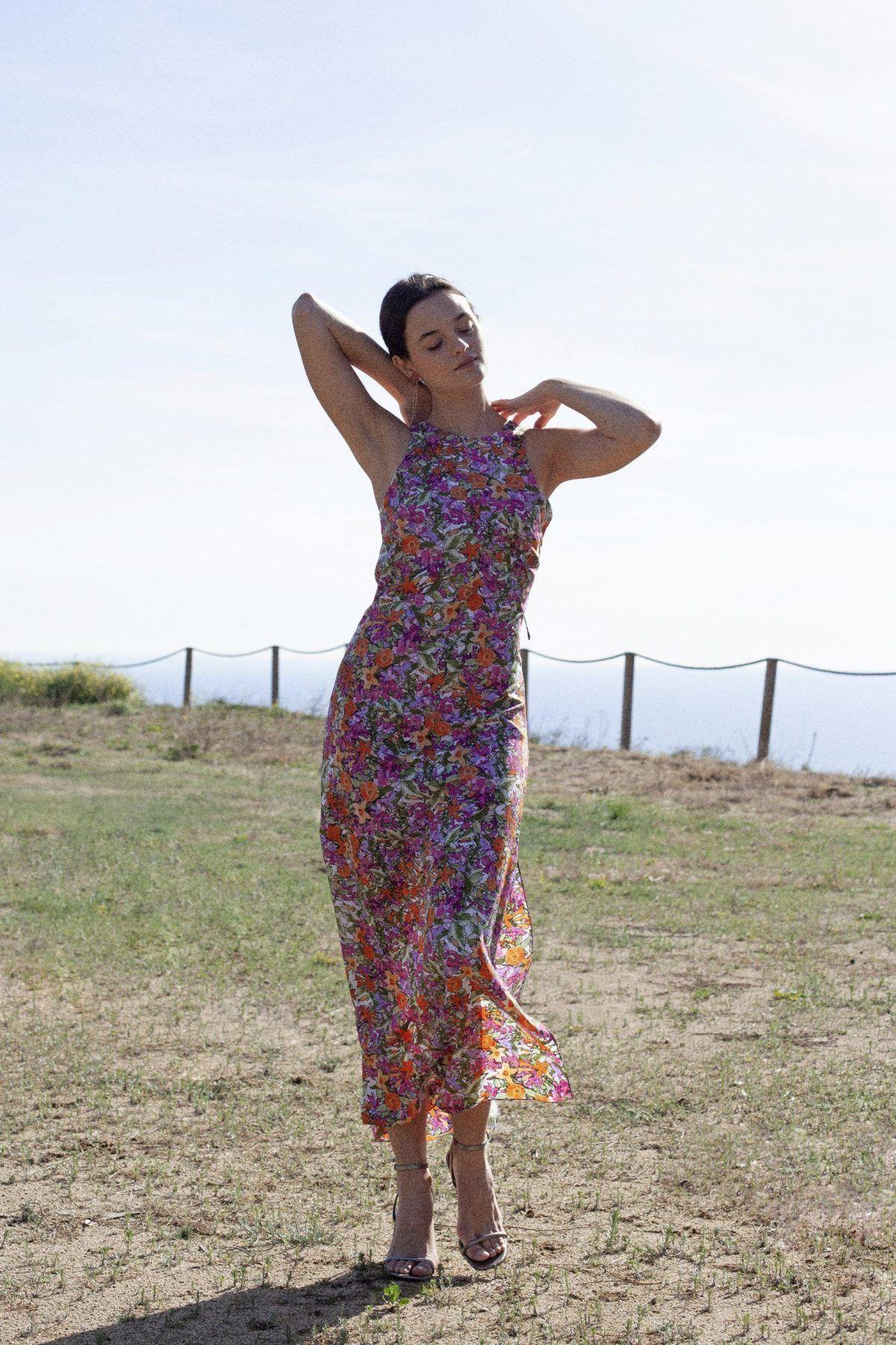diseñadora-de-moda-Francesca Print Dress