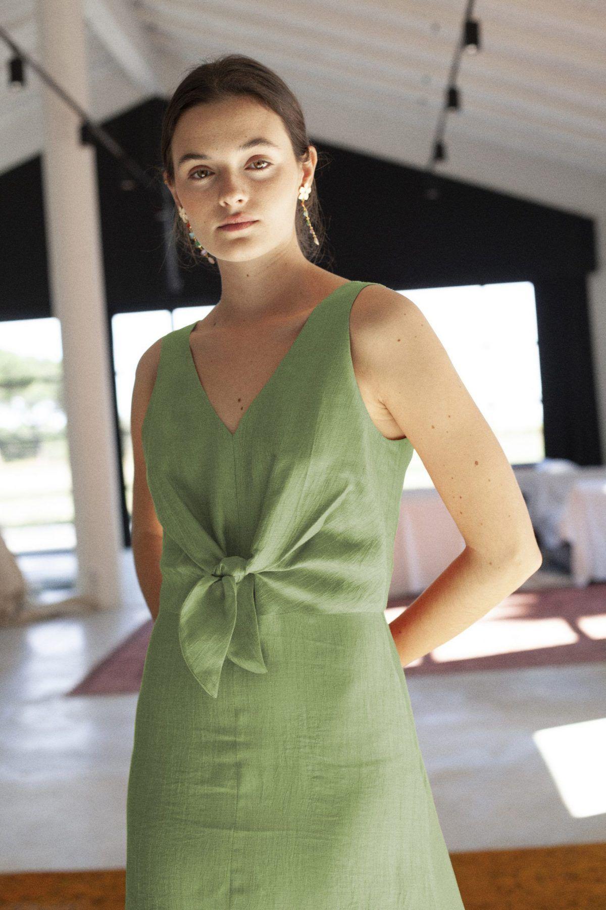 diseñadora-de-moda-Vestido Stella Lino