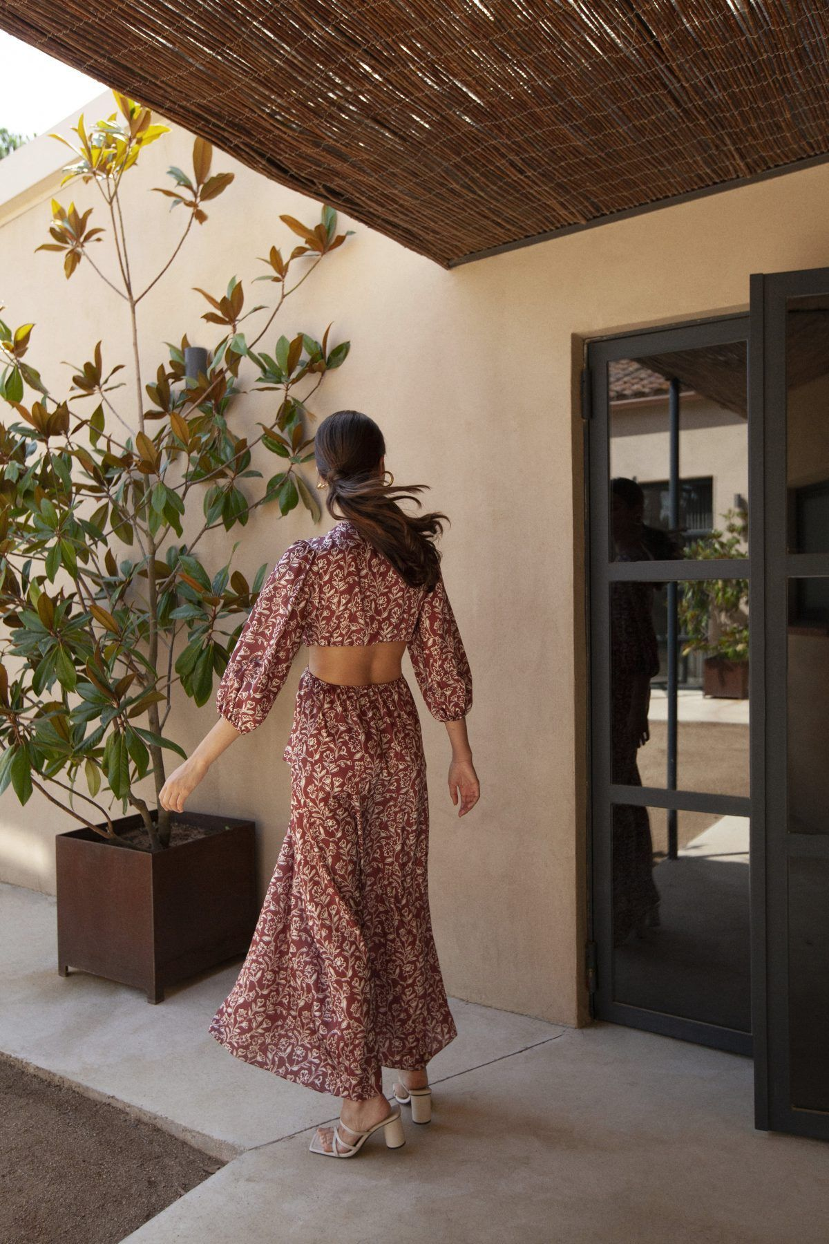 diseñadora-de-moda-Megan Wine Print Dress