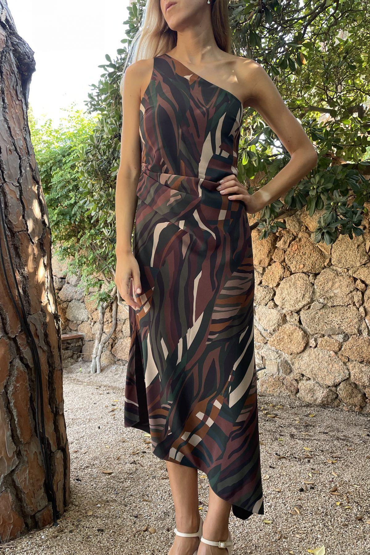 diseñadora-de-moda-Olimpia Forest Print Dress